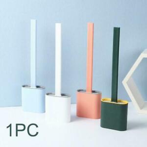 NEW Revolutionary Silicone Flex Toilet Brush And Holder 2020 Set T4T4