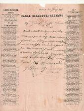 Milano Documento dell'Editore Paolo Ripamonti Carpano al Pretore di Edolo 1833