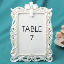 12 White Baroque Cross Photo Frame Table Number Holder Religious Party Décor