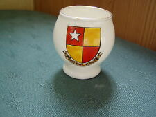 CASTLE HEDINGHAM ESSEX CREST - COLCHESTER VASE - GOSS CRESTED CHINA