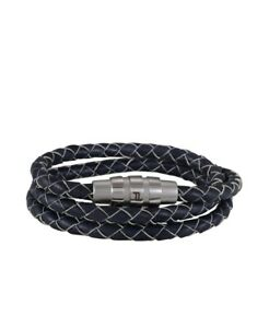 Porsche Design Bracelet Grooves Triple True Navy Cloud Dancer 21,5 cm *NEW*BOX*