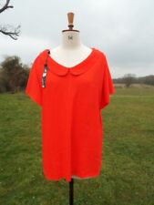 Pretty GOK Red Reversible Peter Pan Collar Top Plus Size 22 BNWT RRP £22.00