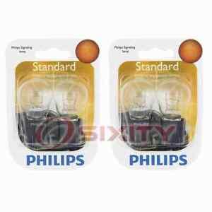 2 pc Philips Brake Light Bulbs for Ford Aerostar Cougar E-150 Econoline rs