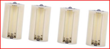 More details for 4pcs universal 3 aa to d size cell parallel battery conversion adapter holder