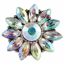 Opal Flower Rhinestone 20mm Snap Charm for Ginger Snaps Magnolia Vine Jewelry