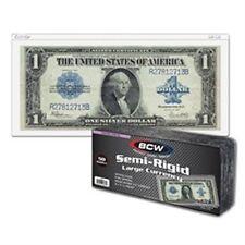 BCW Semi-Rigid Currency Holder - Large Bill