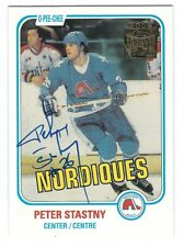 Autographed 2001 Topps Archives PETER STASTNY  Card #21 Quebec Nordiques - COA