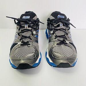 Mens ASICS Gel Nimbus 14 Runner Shoes Size 10.5 Blue Black