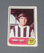 A & BC GUM CARD FOOTBALL ENGLAND 1969 BOBBY HOPE WEST BROMWICH ALBION BAGGIES