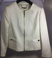 4d75f15dd36220 Ted Baker Ione Womens Textured Cropped Bow Jacket Ivory Dress Size 1 UK 8  EU 36