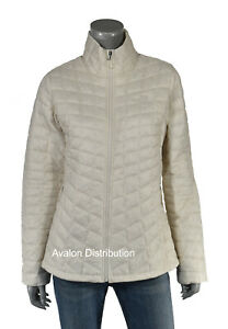 Women's The North Face White Matte Thermoball Eco Lightweight Jacket New $199