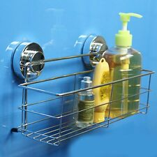 Stainless Steel Kitchen Bathroom Shower Storage Basket Caddy Shelf Suction Cup