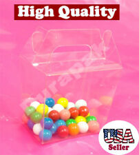 "50~ 3-1/2x2-3/8x3-3/4"" Clear PET Plastic Chinese Take Out Party Favor Box Boxes"