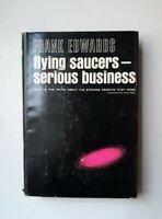 UFO Vintage Flying Saucers Serious Business 1966 1st Ed  HCDJ Edwards aliens