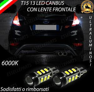LAMPADE RETROMARCIA 13 LED T15 W16W CANBUS FORD FIESTA VI NO ERROR