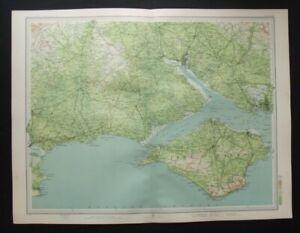 Antique Map: Southampton & Isle of Wight by John Bartholomew, Survey Atlas, 1903