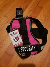 Dogline Unimax Security Dog Vest Harness Removable Chest Plate & Patches sz M