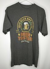 Professional Beer Taster Any Beer Any Time Newport Blue Gray SzM T-Shirt