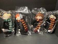4 Pottery Barn Kids Harry Potter Plush ORNAMENT Ron HERMIONE Draco Christmas NEW