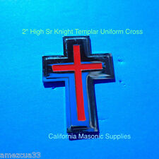 """Templar Sir Knight silver  With Red 2"""" Uniform and Hat  Cross York Rite masons"""