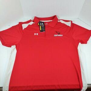 NWT Under Armour Heatgear Arizona Cardinals Football Embroidered Red Polo 2XL