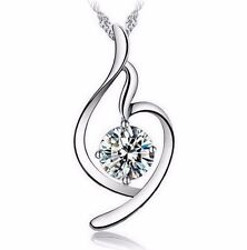 Soft Angel Lucky Necklace - Clear Zircon