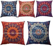 Indian Mandala Pillow Case 18x18 Home Decor Cushion Cover Wholesale Lot 50 Pcs
