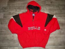 Chicago Bulls Starter Vintage Hoodie Puffer Windbreaker Jacket Men's XL 90s Coat