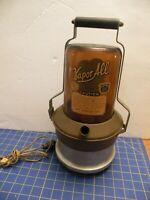 """Vintage Vapor All Vaporizer Duraglas Amber Glass Jar  West Bend 16.5"""" SPOUT"""