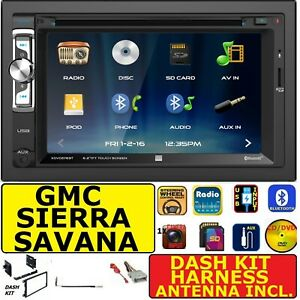 GMC SIERRA CHEVY SILVERADO SAVANA VAN CD/DVD BLUETOOTH USB AUX CAR RADIO STEREO