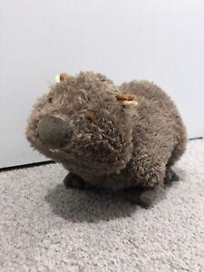GANZ Webkinz Brown Wombat Plush Very Soft