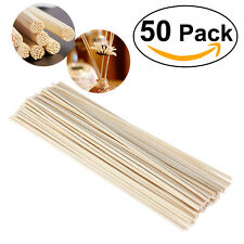 50pcs Premium Rattan Reed Fragrance Oil Diffuser Replacement Refill Sticks Reeds