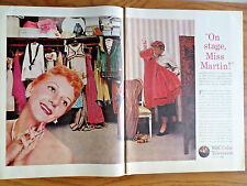 1956 NBC Color TV Televison Ad Miss Mary Martin 1956 RCA TV Arrow Shirts Ad