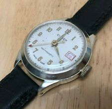 Vintage Cimier R Lapanous Military Swiss Hand-Winding Mechanical Watch Hour~Date