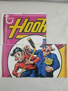 1974 Topps Wacky Packages 9th Series 5 Hookey Hockey Checklist Puzzle 9 Card Set