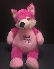 """Great Wolf Lodge Pink Wolf Plush 15"""" Stuffed Animal Fiesta White"""