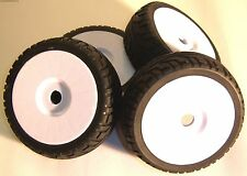 B7033W 1/8 Scale On Road Wheels and Tyres RC Nitro Buggy White x 4