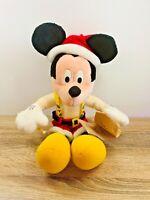 "Vintage Applause Christmas Mickey Mouse Santa's List 18"" Plush Doll"