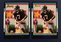 2001 Bowman # 200 MICHAEL VICK Rookie Lot 2 RC'S Virginia Tech NICE LOOK !
