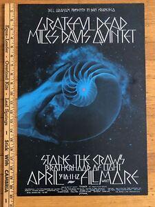 Bill Graham BG 227 Fillmore West 4/9-12/1970 Grateful Dead/Miles Davis Poster