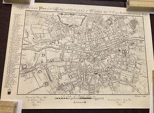 1757 Map of Dublin - 1988 Reprint