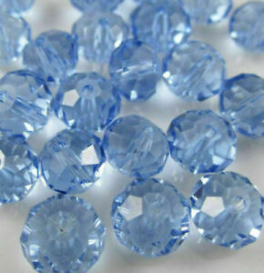 Wholesale light blue crystal faceted abacus loose beads 4*6mm 285pcs