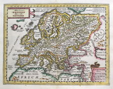 EUROPE, Abraham Ortelius, Cluver original antique map 1661