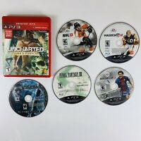SONY PS3 Lot Of 6 Disc Only Games Tested Uncharted Final Fantasy NHL Viking FIFA