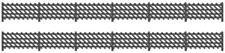 Ratio 427 OO Gauge LMS Station Fencing (Black)