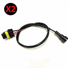 2X H8/H9/H11 Wire Relay Harness for HID High Beam Kit for ballast to socket