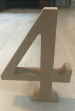 MDF 13cm - Number 4 Freestanding  - Multiples Available - Arts & Crafts