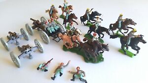 Britains swoppet US civil war confederate artillery cannons cavalry officers
