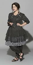 "Hebbeding Beautiful Black ""Dodder"" Lace Hem Tunic Dress UK12,14,16,18 rp £185"