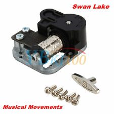 Wind Up Musical Movements Part With Screws Winder Swan Lake Music Box DIY Crafts